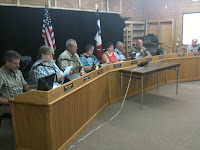 The Washington City Council In Session on Wednesday, August 4th.<br /> (KCII's Chance Dorland)