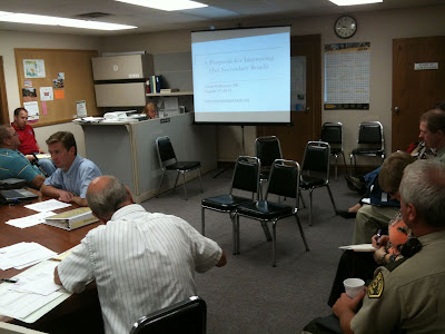 County Engineer David Patterson Gives His Second Presentation In Two Weeks To Washington County Supervisors.<br /> (KCII's Chance Dorland)