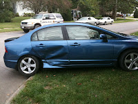 Side Impact Airbags Were Activiated In The Vehicle Driven By Shirley Gilson.<br /> (KCII's Chance Dorland)