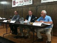Washington County Supervisor District 5 Candidates Richard Gilmore (D), Jim Rosien (Ind) and Ron Bennett (R).<br /> (KCII's Chance Dorland)