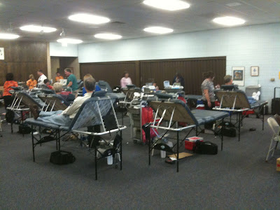 More Than 100 People Came To The United Presbyterian Church In Washington Last Thursday To Donate Blood.<br /> (KCII's Chance Dorland)