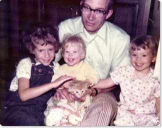 Daddy, me and sisters