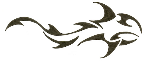 shark tattoo designs. Tribal Shark Tattoo Design 1