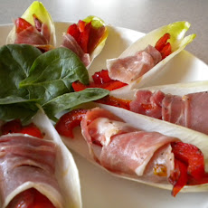 Prosciutto and Pepper Stuffed Belgian Endive
