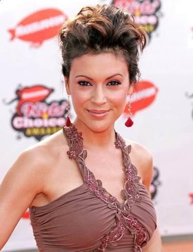 alyssa milano short hairstyle