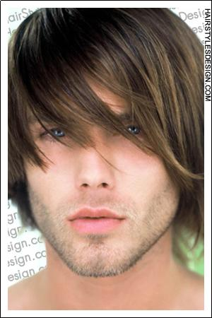 Cool men's layered long haircut