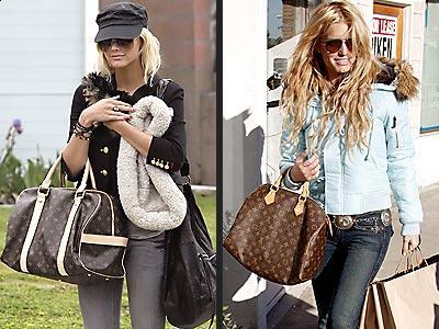 Ashlee Simpson with her Louis Vuitton Designer Handbag