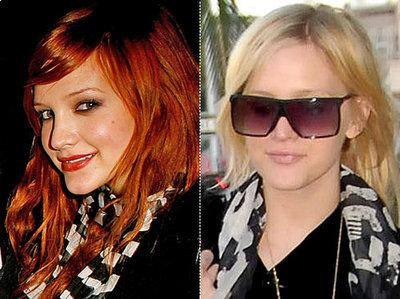 Ashlee Simpson is back to blonde