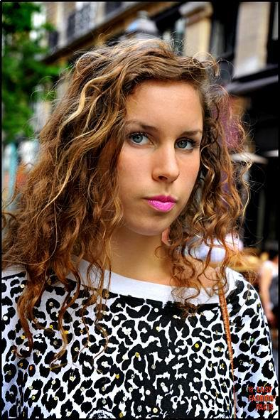 Trendy brown wavy hair with curls