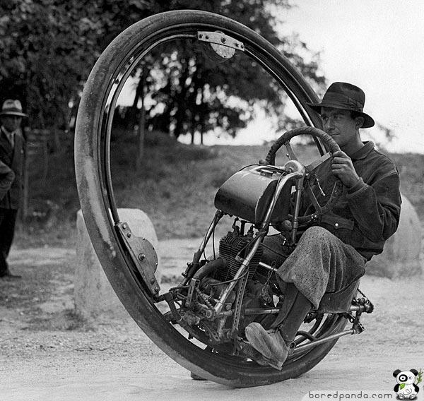 cool inventions one wheel motorcycle 10 invenções do passado que não deram certo