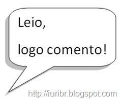 Campanha para Valorização dos Blogs - Leio, logo comento!