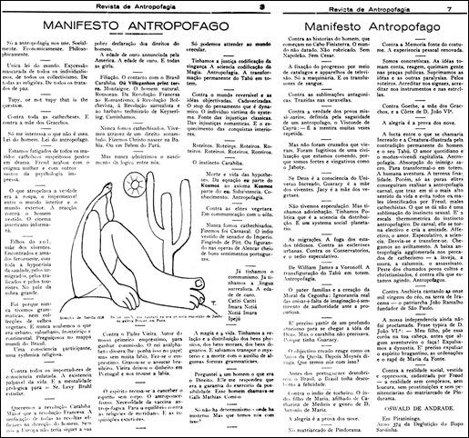 manifesto antropofago facsimil