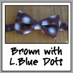brown with light blue dots