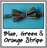 blue, green, orange stripe