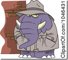 1046431-Royalty-Free-RF-Clip-Art-Illustration-Of-A-Cartoon-Detective-Elephant