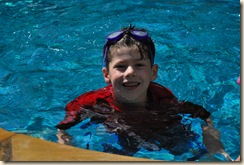 PJ at the pool in Houston