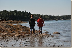 boys at low tide