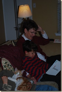 ED reading to Grammie