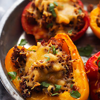 Slow Cooker Southwest Quinoa Stuffed Peppers