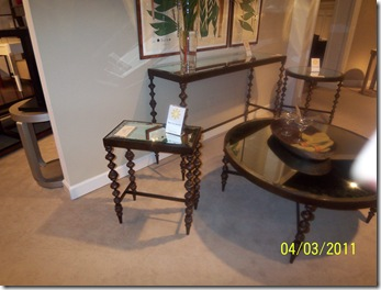 Mirrored Top Table Collection