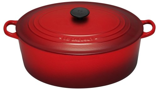 Le Creuset Enameled Cast-Iron 15-1/2-Quart Oval French Oven, Red