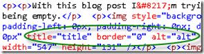 ALT text and title screenshot