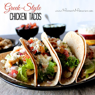 GREEK-STYLE CHICKEN TACOS