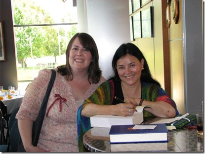 Janelle and Diana Gabaldon