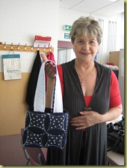 Jan finished her Japanesse Folded patchwork bag