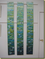 Becoming 50 - hand dyed cottons and silks, machine pieced and quilted