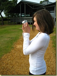 Kezzie taking a photo (Sharne's daughter)