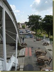 view from Cliff pavillion over the river Thames