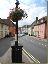 Colourful street in Thaxted