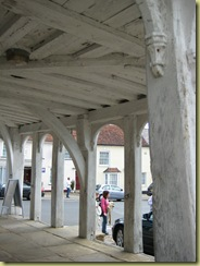 Guild Hall Thaxted, beams white washed with lime