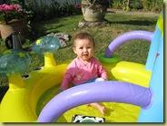 Millie loves her padding pool