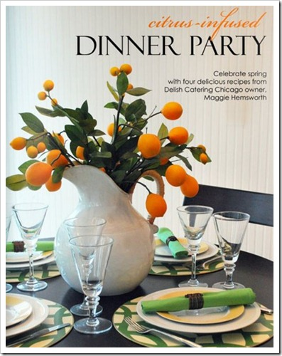 citrus infused dinner party