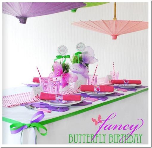 fancy butterfly birthday