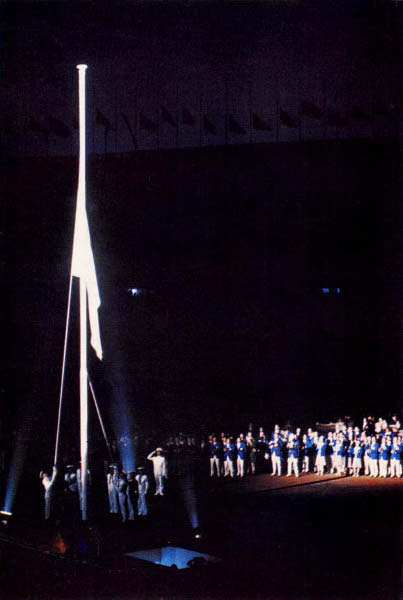 Olympic flag which had flown during