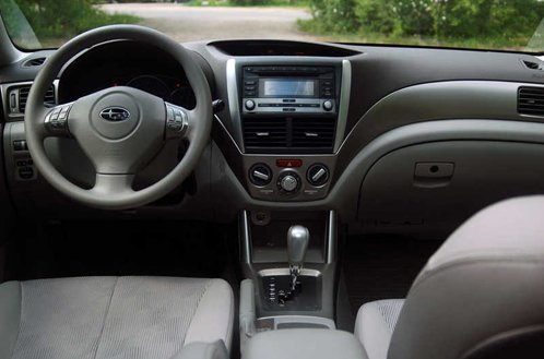 Interior of Subaru Forester