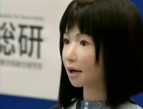 Japanese fashion robot face