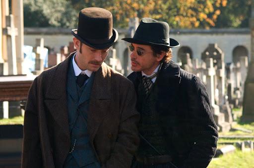 Sherlock Holmes and Dr. Watson in 2009 Sherlock Holmes Movie