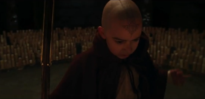 Aang of M. Night Shyamalan's The Last Airbender