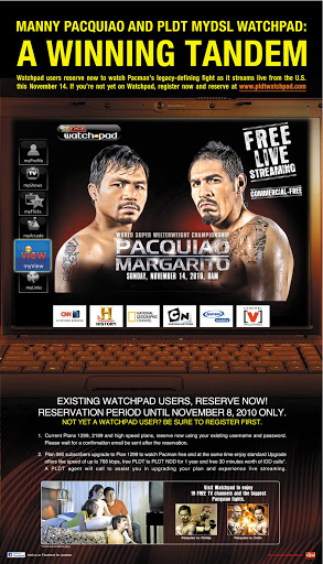 watch the pacquaio margarito fight online
