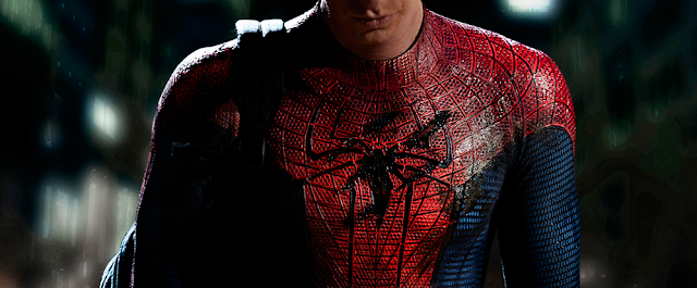 2012 spiderman remake Andrew Garfield in spider-man costume