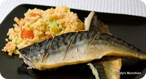 Mackerel with couscous salad