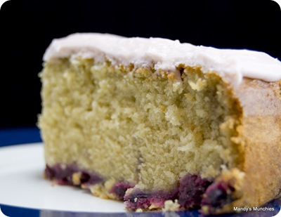 Mixed berry cake with cream cheese frosting