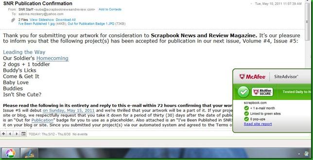 SNR screenshot