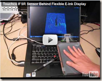 Touchco IFSR sensor behind flexible E-ink display