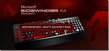 Microsoft SideWinder X4 Multitouch Keyboard