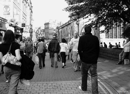 Black & White Street scene York